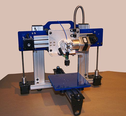 This is a simple version of a 3D printer. Image thanks to Bart Dring